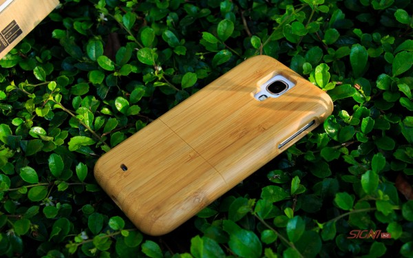 Bambus træ cover smartphone Galaxy S4