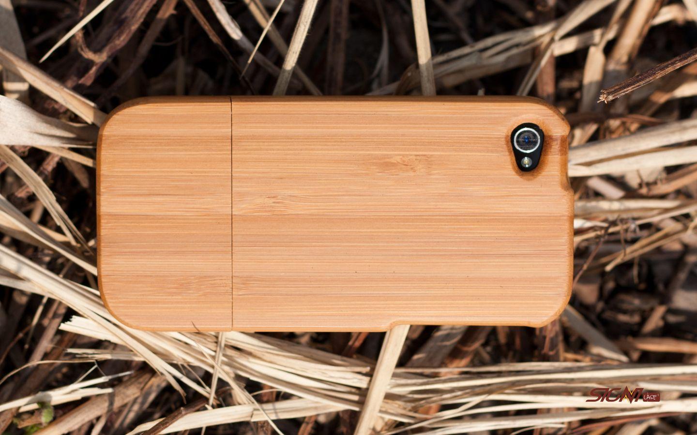 Træ cover smartphone